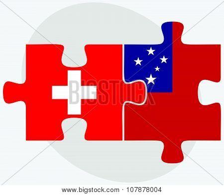 Switzerland And Samoa Flags
