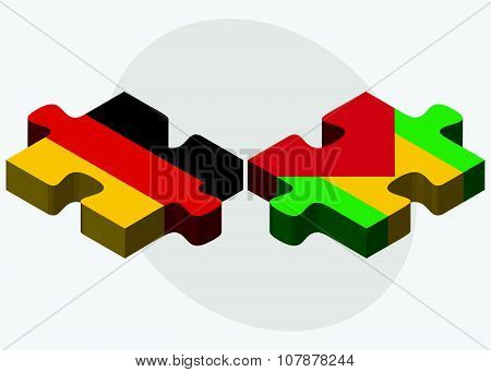 Germany And Sao Tome And Principe Flags