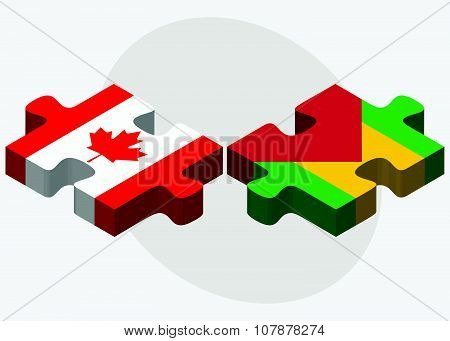 Canada And Sao Tome And Principe Flags