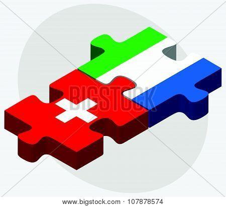 Switzerland And Sierra Leone Flags