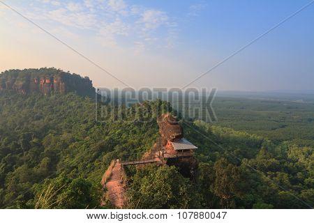 Wat Jetiyakiree Viharn On Phu Tok Mountain