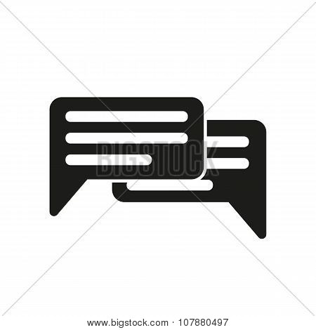 The chat icon. Internet and forum, blog, online symbol. Flat