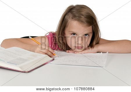 Girl Doing Homework