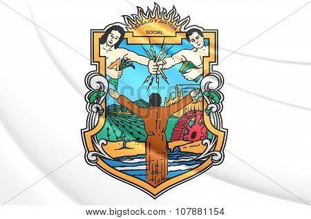Flag Of Baja California State, Mexico.
