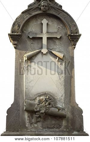 Tombstone With Space For Text