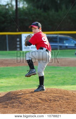 Pony League Baseball Pitcher #1