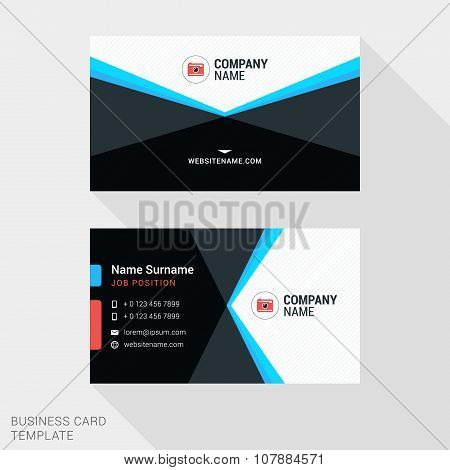 Modern Creative And Clean Business Card Template. Flat Design Vector Illustration