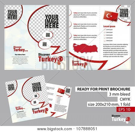 Brochure Design Template, Discover Turkey.