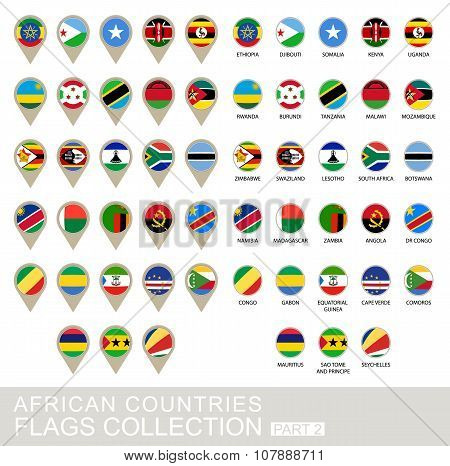 African Countries Flags Collection, Part 2