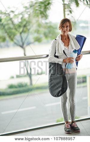 Sporty middle-aged woman