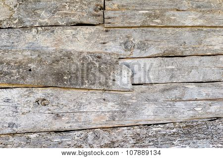 Wall From Old Wooden Boards