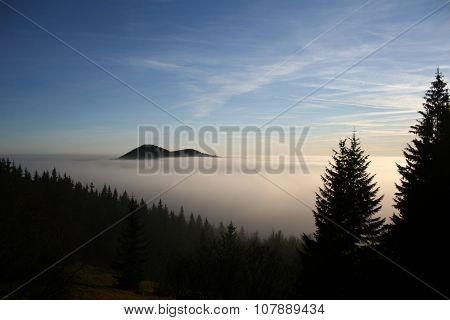 Mountains in cloud