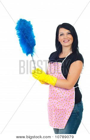 Happy Service Cleaning Woman