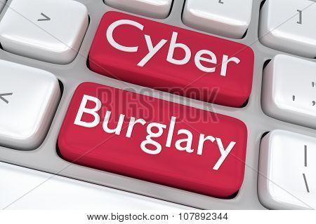 Cyber Burglary Concept