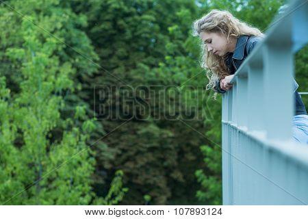 Sad Girl On The Viaduct