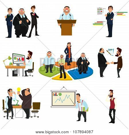 Vector business people in flat style