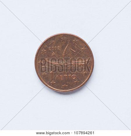 Greek 1 Cent Coin