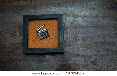 Zen Garden With Little Movie Clapper Board