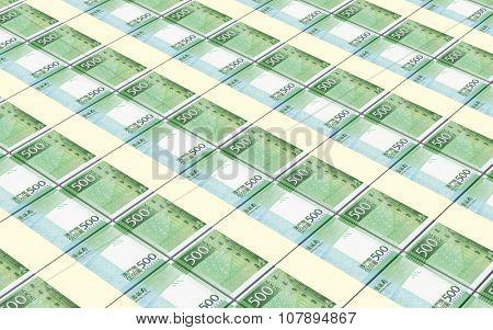 Macanese pataca bills stacked background. Computer generated 3D photo rendering.