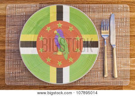Dinner Plate For Dominica