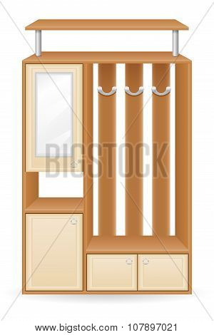 Furniture Hall Vector Illustration