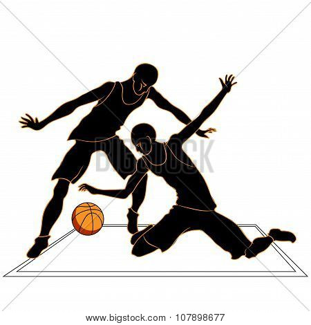 Sports Games Volleyball Silhouettes