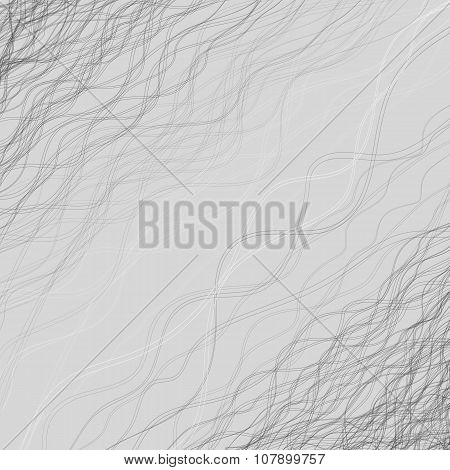 Gray Background With Lots Of Wavy Lines