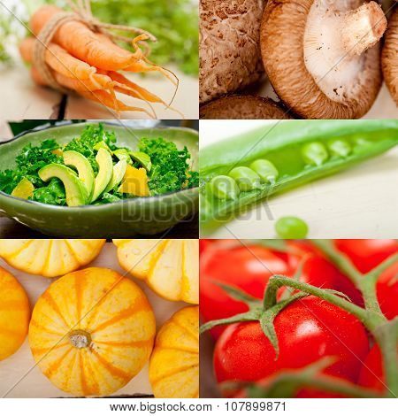 Hearthy Vegetables Collage Composition