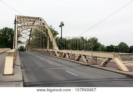 Iron Bridge In Gyor, Hungary