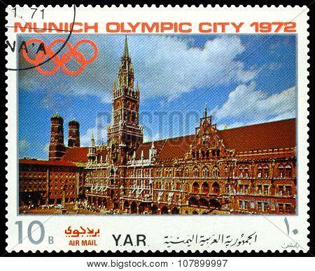 Vintage  Postage Stamp. Munich Olymhic,  1972. 5.