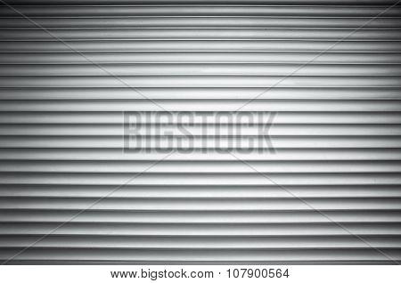 White Ridged Metal Wall Background Texture