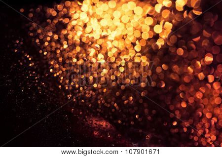 Defocused Abstract Red Lights Bokeh Background