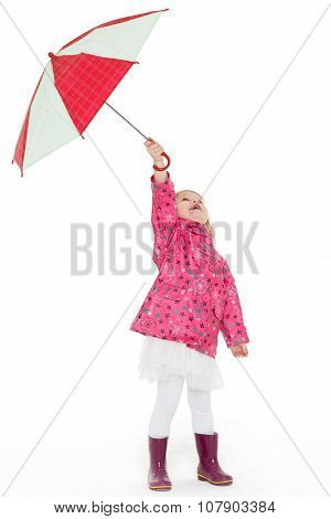 Little Girl With Umbrella.
