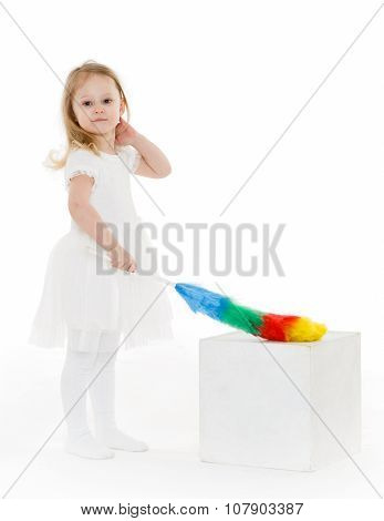 Little Child With Whisk.