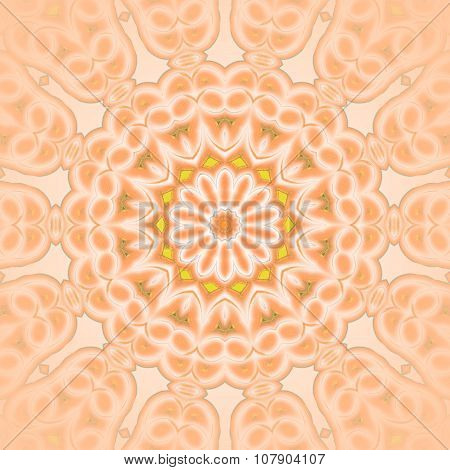 Seamless floral ornament orange