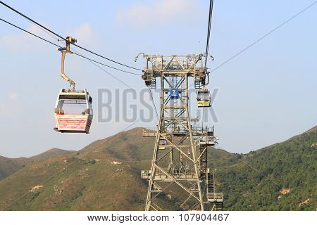 Ngong Ping 360 cable car from Tung Chungin to Lantau Island