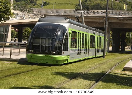 Tram. Bilbao, Euskadi, Spain. Basque Country