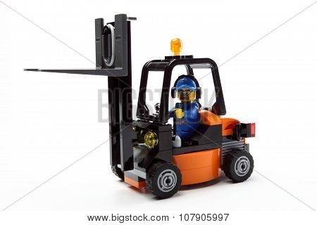 Toy Man On Forklift Truck B
