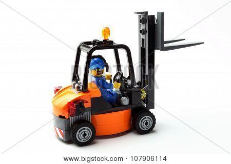 Toy Man On Forklift D