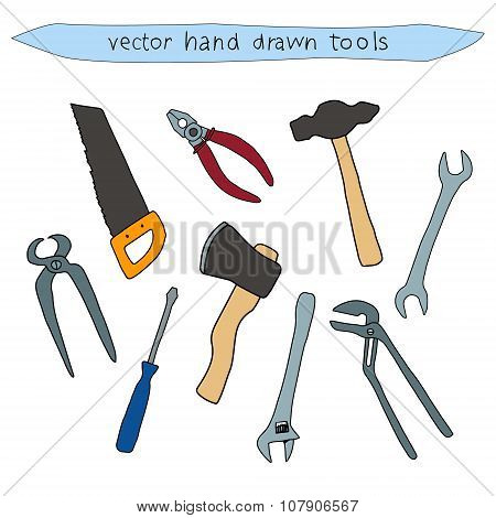 Hand Drawn Vector Tool Set