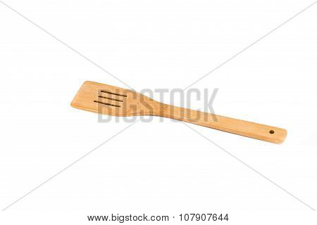 Wooden Spoon Isolated On White Background