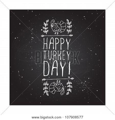 Happy turkey day - typographic element