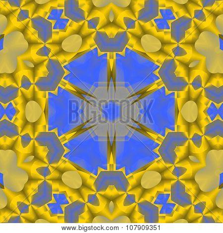 Seamless ornament yellow blue