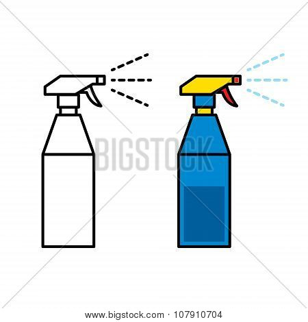 Icon of plastic spray bottle