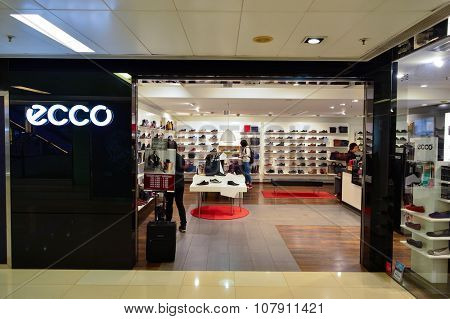 HONG KONG - NOVEMBER 02, 2015: interior of a store in New Town Plaza. New Town Plaza is a shopping mall in the town centre of Sha Tin in Hong Kong. Developed by Sun Hung Kai Properties
