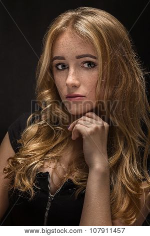 Sensual Sad Woman