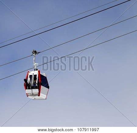 Gondola Lift With Ski And Snowboards