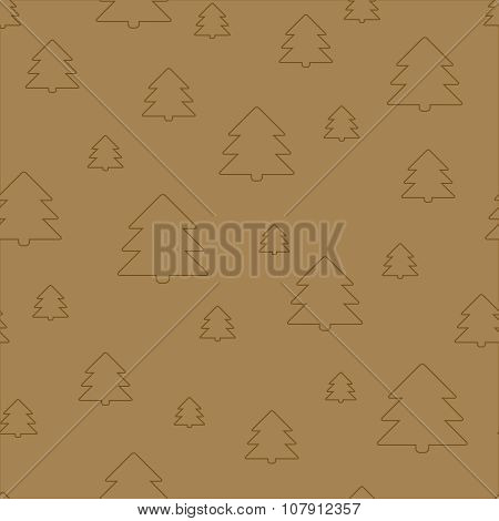 Seamless Christmas pattern. New Year theme. Backgrounds can be copied without any seams. Vector illu