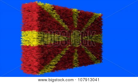 Flag of the Republic of Macedonia, Macedonian Flag made from clouds