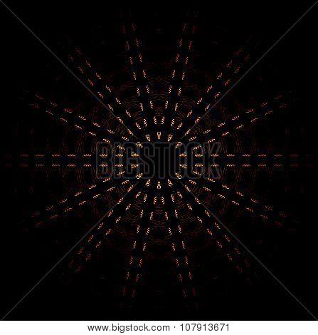 Seamless star pattern yellow black